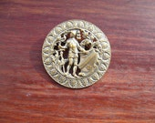 Large Antique or Vintage French Brooch Pin