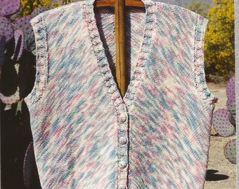 Marble Mountain Vest Oat Couture Knitting Pattern GU407 To Make in 5 Sizes