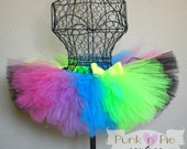 Adult Neon Rainbow Tutu in Fluorescent colors - Perfect for a glow run or black light party