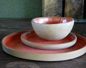 Ceramic dinnerware set, Handmade dinnerware, dinner set, wedding gift