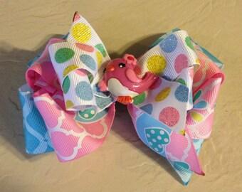 Pink & Blue Lil' Birdie Boutique Hair Bow