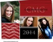 10-4x6 or 5x7 Graduation Senior Invites Announcements Photo Cards/you can change the colors/Callie Design