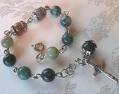 Adjustable Fancy Jasper Rosary Bracelet