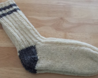 Sale Handmade pure Wool socks size 8 to 9