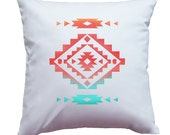 Apericots Pillow Cover Pillow Case Pillowcase With Native American Aztec Santa Fe Southwestern Design Home Decor Accent Pillow
