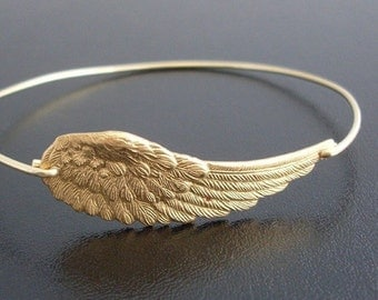 Angel Wing Bracelet, Angel Wing Jewelry, Spiritual Bracelet for Her, Spiritual Jewelry for Mom