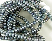 Freshwater Bluish Gray Pearl Beads 60% off, qty 98