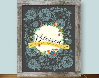 Blessed Are They - Christian Art - 8x10 Wall Art Instant Printable