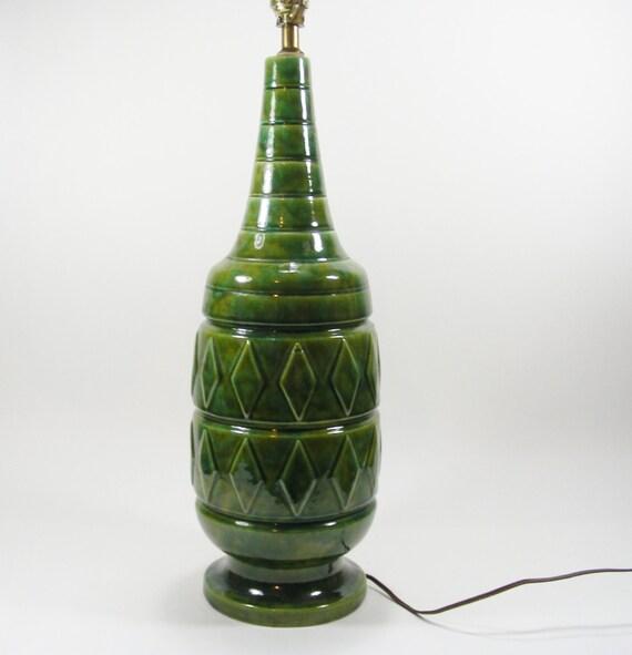 Green Ceramic Table Lamp