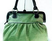 Tote Bags Olive Green Handbags, Diaper bag, Women Travel bag, School bag