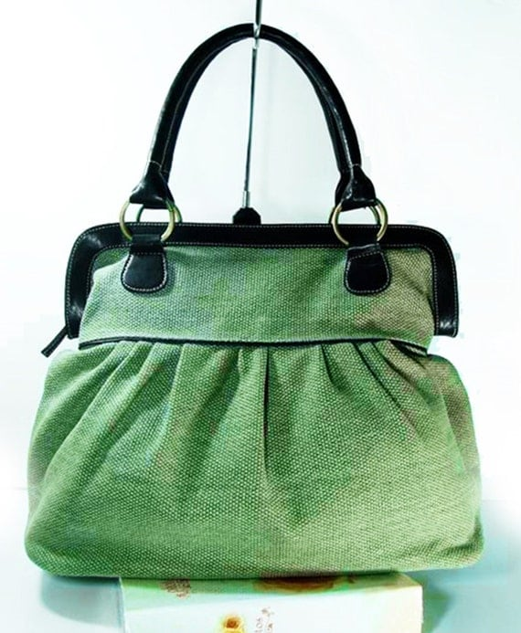 items similar to tote bags olive green handbags diaper bag women travel bag school bag on etsy. Black Bedroom Furniture Sets. Home Design Ideas