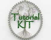 Craft kit, jewelry making kit, DIY jewellery kit, wire pendant, make your own, wire tree pendant, MATERIALS ONLY