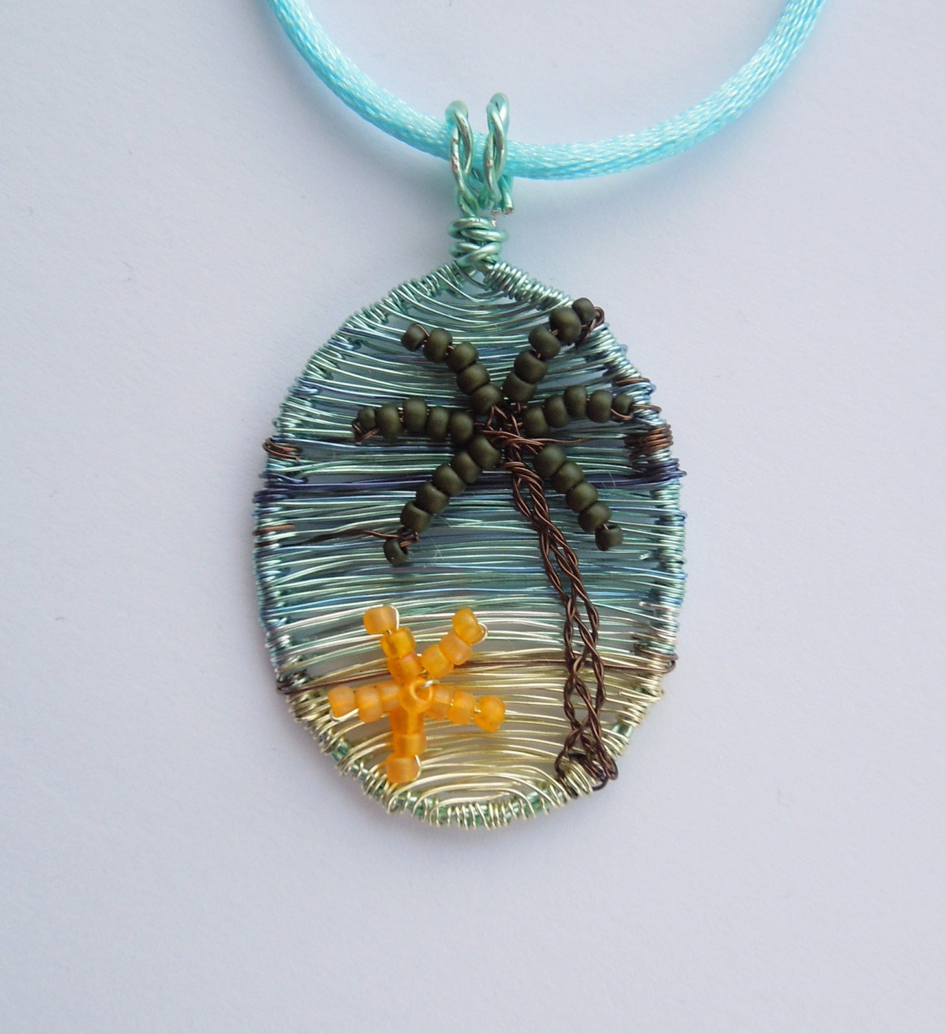 palmtree jewelry palm tree pendant tropical pendant palm tree jewelry 5665