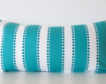 Pillow Cover - Lulu Stripe - True Turquoise  - Sripes - Blue - Cushion Cover