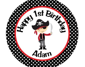Pirate Iron On Transfer for Birthday Shirt - Pirate Theme Birthday Party Iron on Transfer - Pirate Birthday Outfit - Red & Black