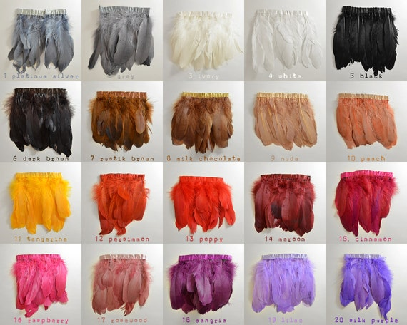 6 pack - OVER 40 COLORS - Vogue goose Feathers - Goose Nagorie - Spectacular quality - over 40 to choose from!