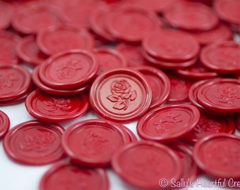 Beauty and the Beast Rose Self Adhesive Flexible Wax Seals Deep Red