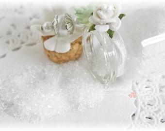 Glitter Glass Bottles .5 Ounces, Hand Tinted Diamond Dust, German Glitter, Crystal