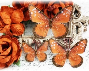 Chestnut Butterfly Embellishments for Scrapbooking, Cardmaking, Mini Album, Wedding, Tag Art, Mixed Media