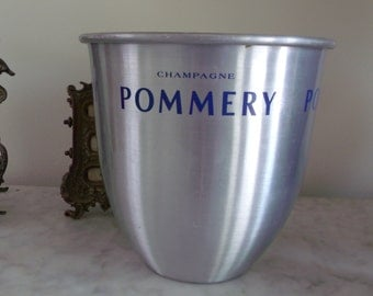 Pommery French Champagne Ice Bucket Waste Basket  Made France NEW YEARS