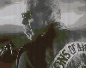 Sons of Anarchy counted Cross Stitch Pattern Clay Morrow Ron Pearlman