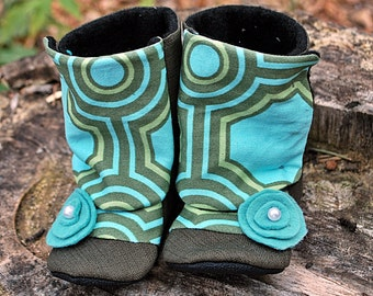 Baby Boots // Girl Baby Boots // Girl Toddler Boots // CHLOE Soft Soled Girl Boots // Sizes 2-7