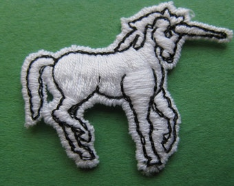 vintage unicorn patch white unicorn appliqué vintage jacket patch new old stock