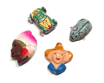 Bubble Gum Machine Salesman Sample Charms Vintage 1950s Ohio Gum Supply Charms and Paperwork