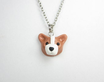 Pembroke Welsh Corgi Necklace - Corgi dog jewelry, polymer clay corgi jewelry