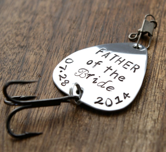 Father of the bride gift fishing lure father by for Fishing gifts for dad