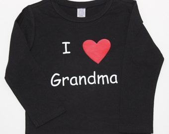 I Love Grandma, Boys Shirt, Infant Boys, Toddler Boys, Grandmother shirt, Grandma Shirt