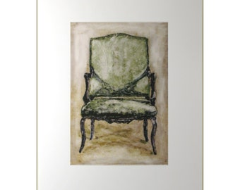 Chair Art - Furniture Art - Furniture Prints - Fauteuil - Rustic Country  Decor -  Discontinued Print Sale