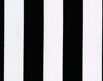 Michael Miller Black and White Fabric, TWO BY TWO Stripe, yardage