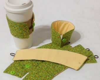 SALE!*!*!*! - Dottie Coffee Cozie - 2 for 1 *!*!*! Mix and Match (items marked as such)