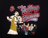 Vintage 80's Rolling Stones Glam Punk Disco Belly Muscle T-shirt