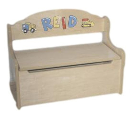 Personalized Childrens Toy Box or Deacons Bench by pookieboutique