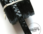9mm Wide Double Starbright Swiss Braid for Millinery Hat Making 3 yards - Black