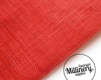 Sinamay Fabric Red (1/2 yard) for Millinery, Fascinators & Hat Making