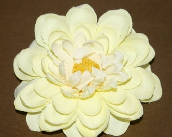 Lovely Layers Pale Yellow Dahlia - Artificial Flower, Silk Flower