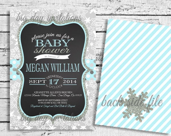 items similar to winter wonderland baby shower invitation, Baby shower invitations