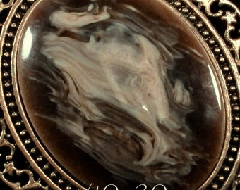 40x30mm - 'Latte' - Acrylic Cabochon - 1 pc : sku 09.02.14.4 - K13
