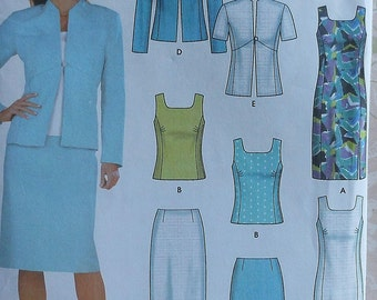 Spring Wardrobe Sewing Pattern UNCUT Simplicity 7074 Sizes 12-18