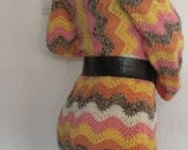 Knitted warm colourful dress