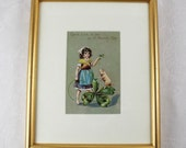 Framed Victorian 1900's Saint Patrick's Day Postcard