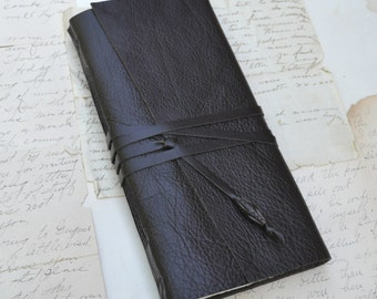 Tall Brown Leather Journal