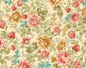 Quilting Treasures, Rendezvous, Vintage Floral in Cream, 1 yard bundle