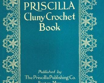 Vintage 1920s Priscilla Cluny Crochet Patterns Digital Download Downton Abbey Era Roaring 20's