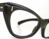 Vintage 1950s Brown Cateye Eyeglasses Eyewear Frame