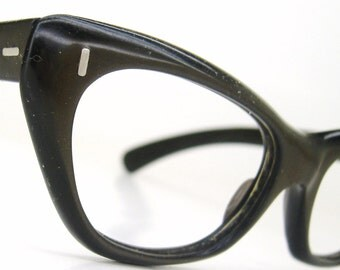 Vintage 1950s Brown Cateye Eyeglasses Eyewear Frame