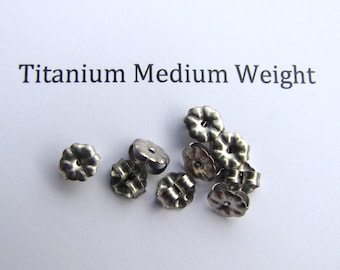Nickel Free 100 pcs Titanium Earring Backs, Clutches Ear Nuts Hypoallergenic jewelry finding supplies